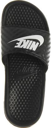 Nike Benassi logo-embossed rubber sliders