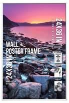 "B.P. Industries Poster Frame Thin Profile - White - (24""x36"")"