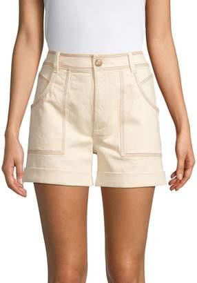 Madewell Rainbow Topstitching Shorts