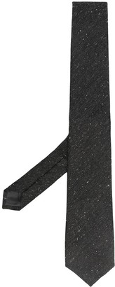 Ermenegildo Zegna Plain Black Tie