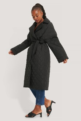NA-KD Back Slit Quilted Coat