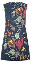 Diane von Furstenberg Leather Floral Shift Dress