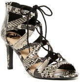 Fergalicious Heartthrob Faux Snake Lace-Up Sandal