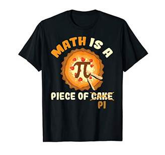 Pi Funny Day Gift Math Is A Piece Of Cake T-Shirt