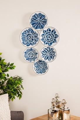 Uma Blue Eclectic Floral Wall Art