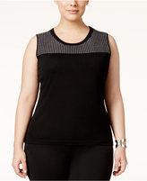 Calvin Klein Plus Size Pointelle Sweater Shell
