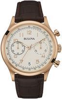 Bulova Classic Mens Brown Leather Strap Watch 97B148
