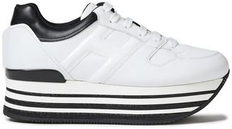 Hogan Two-tone Leather Platform Sneakers