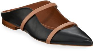 Malone Souliers Maureen Flat Leather Mules