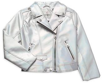 Urban Republic Girl's Iridescent Moto Jacket