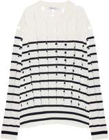 Alexander Wang Cutout Striped Cotton Pullover