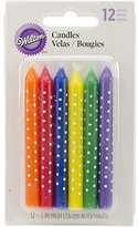 Wilton Candles, Multicolor with White Dots, 12/Pack