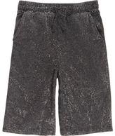 River Island Boys dark Grey acid wash shorts