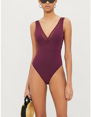 Jets Conspire V-neck swimsuit