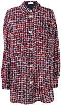 Faith Connexion checked shirt jacket - women - Cotton/Acrylic/Polyamide/glass - XS