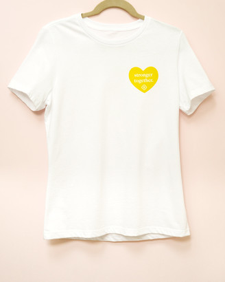 Kendra Scott Womens Stronger Together T-Shirt In Yellow
