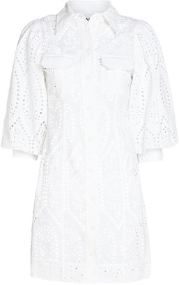 Ganni Broderie Anglaise Shirt Dress