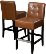 JCPenney Everette Set of 2 Tufted Bonded Leather Barstools