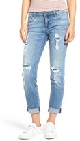 KUT from the Kloth Women's Catherine Ripped & Repaired Boyfriend Jeans