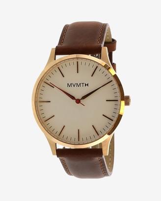 Express Mvmt Men'S 40 Rose Gold Leather Watch