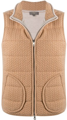 N.Peal Cabler Eversible Padded Cashmere Gilet