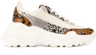 Joshua Sanders Snakeskin Print Sneakers