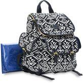 Carter's Baby Go Aztec Backpack Diaper Bag in Black/White