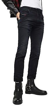 Diesel Krooley-x Slim Fit Sweat Jeans in Black Denim