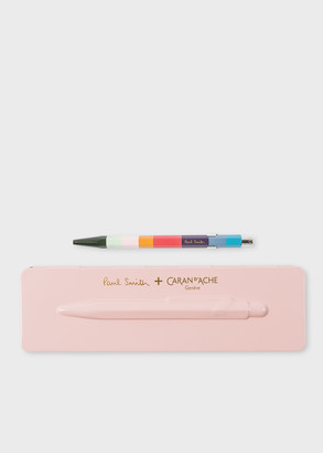Paul Smith Caran d'Ache + 849 'Artist Stripe' Ballpoint Pen With Rose Pink Case