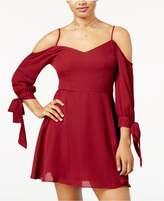 B. Darlin Juniors' Cold-Shoulder Fit and Flare Dress