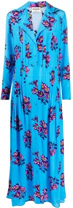Zadig & Voltaire Floral Maxi Shirt Silk Dress