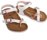 Birkenstock Girls Taormina Birko-Flor Regular Fit Sandals Soft Metallics Rose White