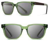 Shwood Women's 'Prescott' 52Mm Acetate & Wood Sunglasses - Emerald/ Ebony/ Grey