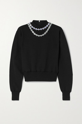 Christopher Kane Crystal-embellished Cotton-jersey Sweatshirt