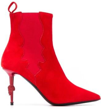 Philipp Plein Skull suede ankle boots