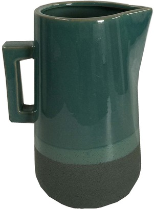 Element Teal Ceramic Vase With Handle
