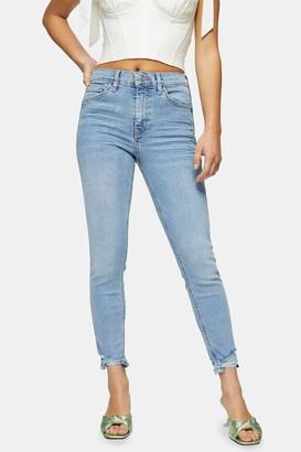 Topshop Womens Petite Bleach Stone Jamie Skinny Jeans - Bleach Stone