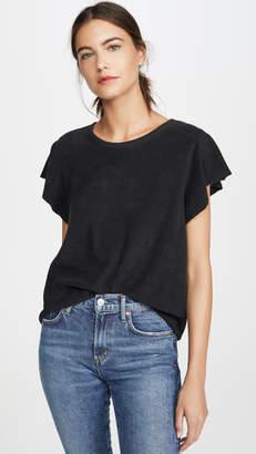 Goldie Sleeveless Ruffle Sweatshirt