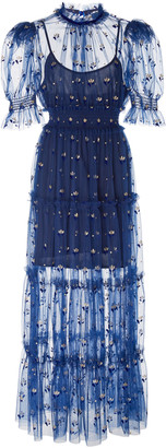 Alice McCall Cowboy Tears Flocked Tulle Midi Dress