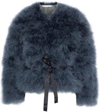 Rebecca Minkoff Harper Belted Feather Jacket