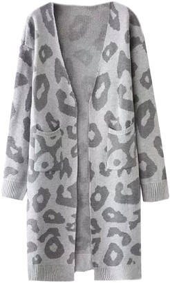 Goodnight Macaroon 'Reilly' Leopard Print Open Cardigan (4 Colors)