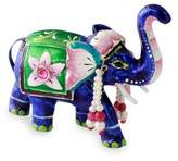 Meenakari Enamel on Sterling Silver Figurine, 'Lucknow Royal Elephant'