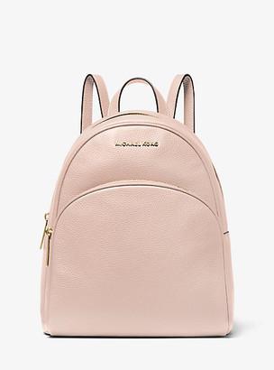 Michael Kors Abbey Medium Pebbled Leather Backpack