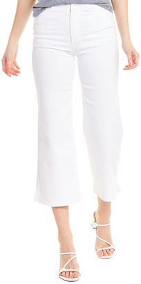 AG Jeans Etta White High-Waist Wide Leg Crop