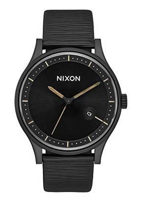 Nixon Unisex Adult Analogue Quartz Watch with Leather Strap A11612987-00