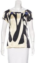 Roberto Cavalli Silk Abstract Print Top