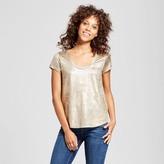 Mossimo Women's Short Sleeve Foil Print T-Shirt