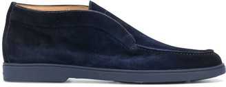 Santoni Tonal-Stitch Loafers