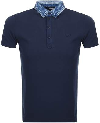 Diesel T Miles Polo T Shirt Navy