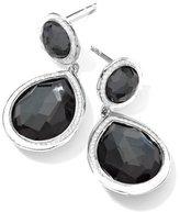 Ippolita Stella 2-Stone Drop Earrings in Hematite & Diamonds